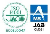 ISO14001認証を取得しています