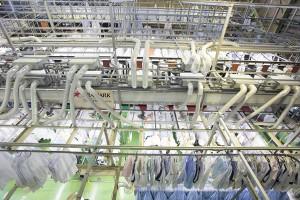 日本最大級の洗濯工場